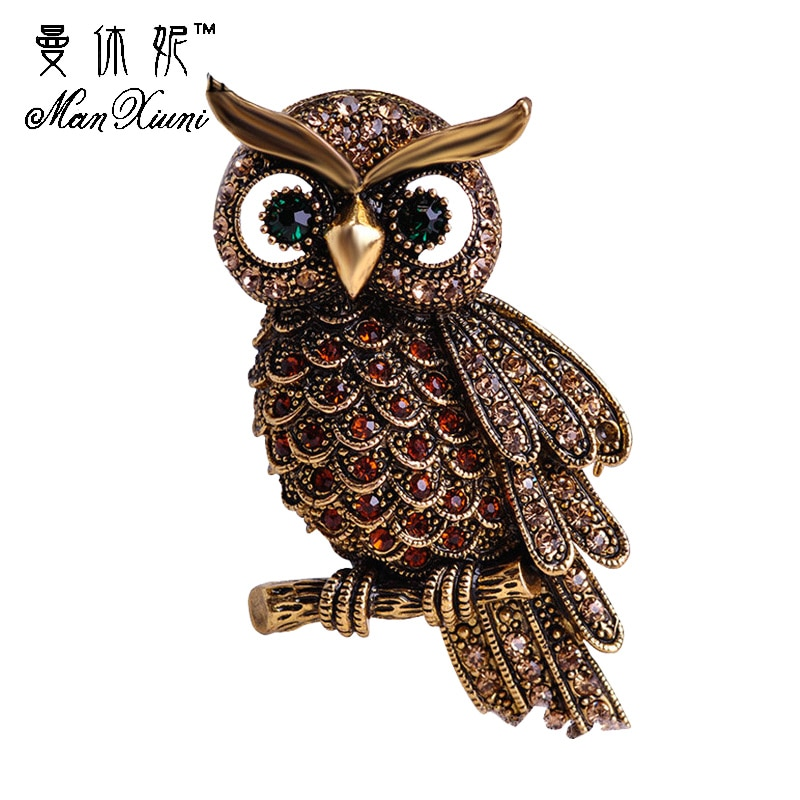 Pinback Buttons Badges Pins Brown Owl Face Lapel Pin Brooch Clip Trendy Accessory Jacket T-Shirt Bag Hat Shoe