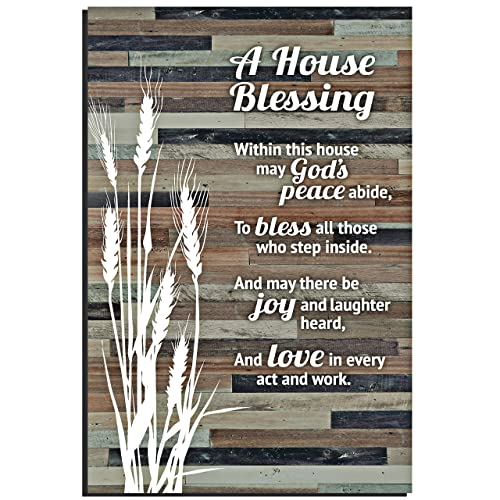 Buy House Blessing Rustic Wood Plaque Easel Hanging Hook 6x9 Inch Vertical Plaques Wall Art Tabletop Decoration For Your Home Or Office A House Blessing Within This