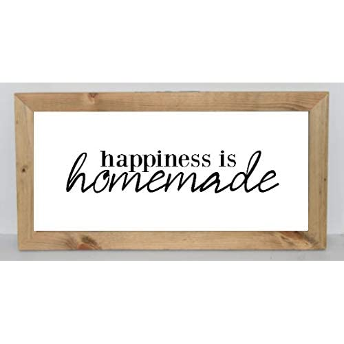 Dozili Large Wood Kitchen Sign Happiness Is Homemade Kitchen Sign Dining Room Sign Farmhouse Decor Wood Framed Sign Rustic Sign 6 X 20 Buy Products Online With Ubuy Costa Rica In