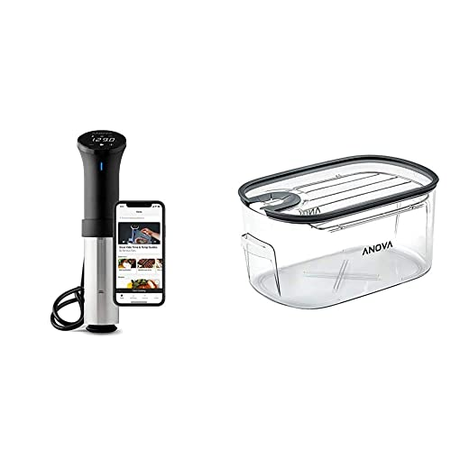 1000 Watts WiFi Black and Silver Anova App Included Anova Culinary AN500-US00 Sous Vide Precision Cooker