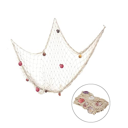 Buy Anyumocz Natural Fishing Net Wall Decor With Sea Shells For Home Bedroom Mediterranean Style Decoration And Beach Theme Party Wedding Decoration Online In Costa Rica B07v9h3fc2
