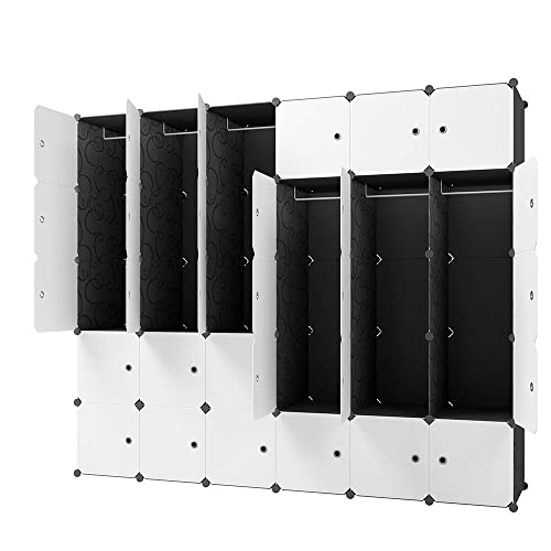 Kousi Wardrobes For Clothes Wardrobe Black Wardrobe Closets For Bedroom Portable Closet Wardrobe Closet Bedroom Armoire Dresser 12 Cubes 6 Hanger Buy Products Online With Ubuy Costa Rica In Affordable Prices B0813mystx