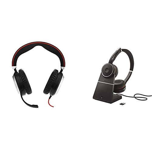 Jabra Evolve 80 Professional Stereo Noise Cancelling Wired Headsetmusic Headphones Ms Bundle With Jabra Evolve 75 Stereo Uc Charging Stand Link 370 Buy Products Online With Ubuy Costa Rica In Affordable Prices B0822wcvdb