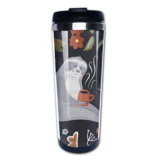 Birthday Anniversary Mug for Men Women Couples Waldeal Sea Otter in Love Travel Coffee Mug with Flip Lid Stainless Steel Tumbler Cup Water Bottle 15 OZ
