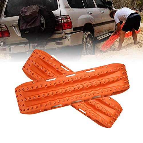 2 Pcs Recovery Tracks Traction Mat for 4X4 Jeep Mud Orange Traction Boards Snow Tire Traction Sand Tracktion Mat FIREBUG Off-Road Recovery Track