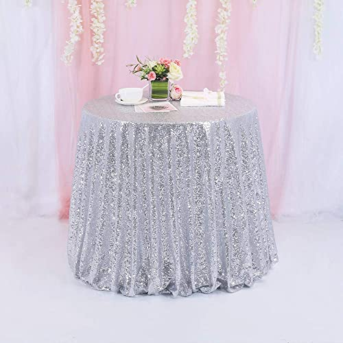 By the Yard Sequin Fabric Linen Table Runner Sequin Tablecloth TRLYC 9 Feet 3 Yards Purple Sequin Fabric