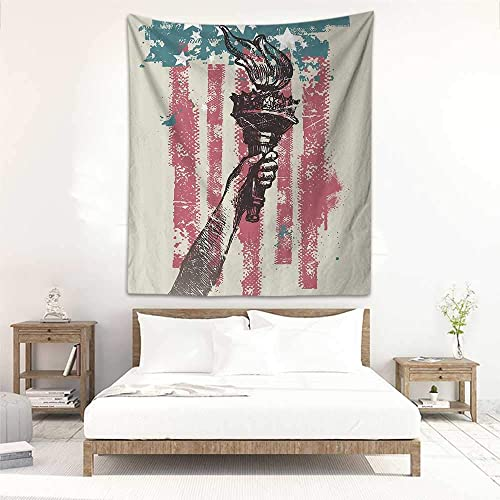 Godves Wall Tapestry For Bedroom American Flag Decor Abstract Usa Patriot Sign 4th Of July Country Coat Of Arms Decor Tapestry For Home Decor 47 X63 Pink Light Blue Buy Products Online