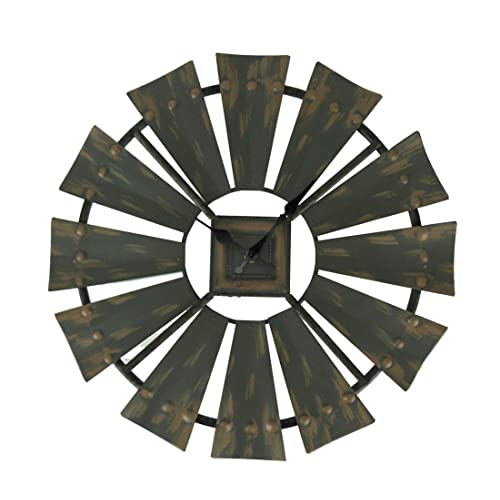 Buy Things2die4 Rustic Vintage Finish Metal Windmill Wall Clock Online In Costa Rica B07n35j853