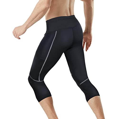 Men Gym Thermo Neoprene Sweat Sauna Shaper Pants Weight Loss Slim Shorts Workout