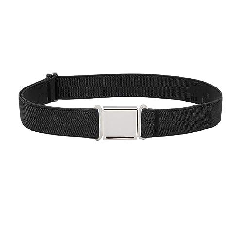 JASGOOD Kids Adjustable Magnetic Belt Boys Girls Elastic Belt with Easy Magnetic Buckle Fit Pant Size16-26Inch