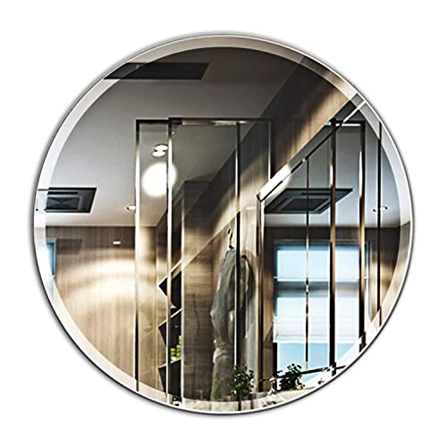 Buy Mirror Trend 28 Inches Round Frameless Mirror Large Beveled Wall Mirror With Solid Core Wood Backing Wall Mirror For Bathroom Vanity Living Room Bedroom Online In Costa Rica B075y9fwn8