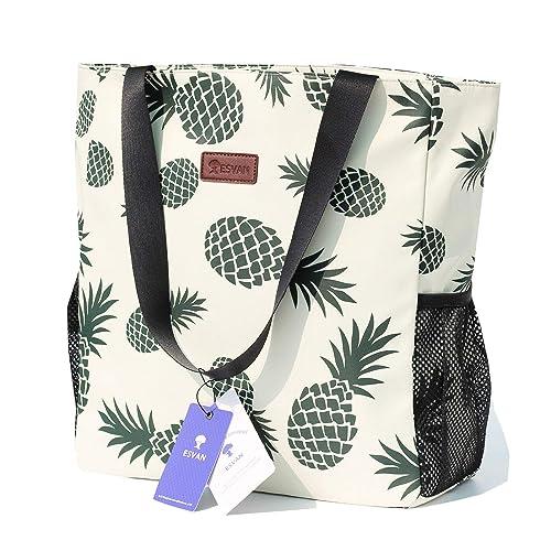 ESVAN Original Floral Water-Resistant Large Tote Bag