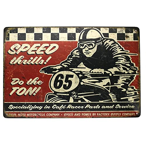 Buy Sumik Speed Motorcycle Race Metal Tin Sign Vintage Art Poster Plaque Garage Home Wall Decor Online In Costa Rica B07d5yrrz5