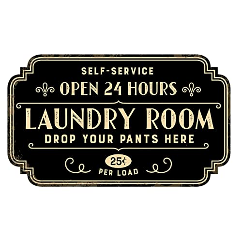 Buy Zazzy Signs Rustic Laundry Room Wall Decor Sign Vintage Distressed Metal 17x13 Inch Online In Costa Rica B07dhcr7yk