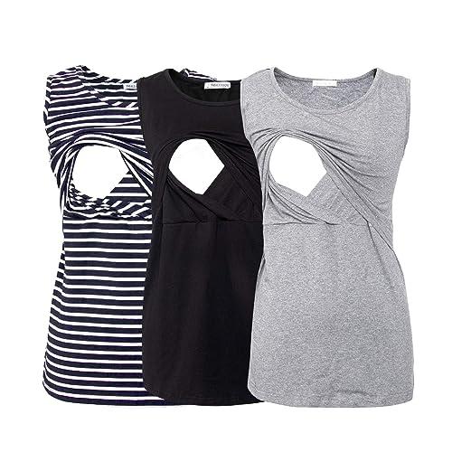 Buy Smallshow Womens Sleeveless Maternity Nursing Tank Tops Breastfeeding Clothes Online In Costa Rica B06x8yx8dq