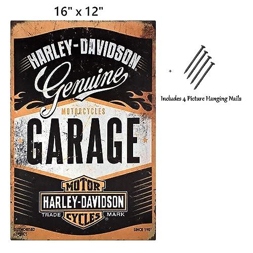 Buy Uniq Designs Vintage Tin Signs Harley Davidson Garage Decor Retro Garage Poster Bar Wall Sign Antique Metal Vintage Pub Sign Pin Up Garage Sign Or Garage Decor Metal Signs For Men