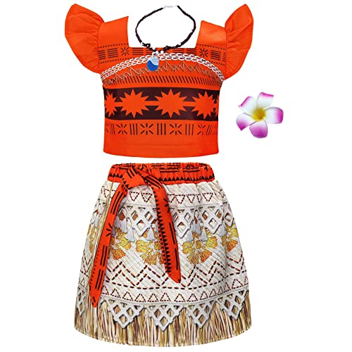 Jurebecia Little Girls Princess Costume Ruffle Sleeve Dress up Fancy Birthday Party Outfit 1-10 Years