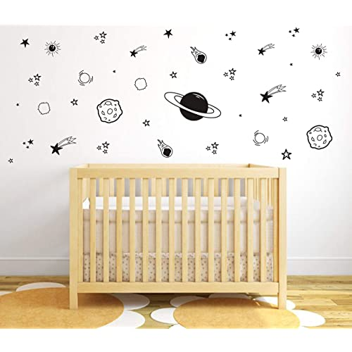 Buy Planet Wall Decal Boys Room Decor Outer Space Wall Decals Star Wall Stickers Vinyl Wall Decals For Children Baby Kids Boys Bedroom Nursery Decory04 Black Online In Costa Rica B07jyjs5yg