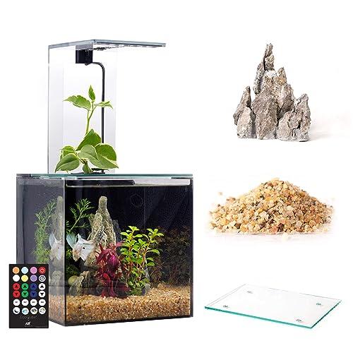 Desktop Betta Fish Tank For Living Office And Home D/écor EcoQube Aquarium