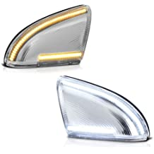 Driver /& Passenger Side VIPMOTOZ Switchback Full White /& Amber LED Side Mirror Turn Signal Light Puddle Lamp Assembly Replacement Pair For 2009-2018 Dodge RAM 1500 2500 3500 Classic Pickup Truck