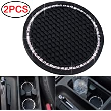 Soondar 2PCS 2.75 inch Car Interior Accessories Anti Slip Cup Mat for for All Brands of Cars