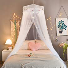 Uarter Bed Canopy Mosquito Net for Kids Bed Conical Curtains Kids Play Tent with Stars for Boys and Girls Installation-Free Blue//White