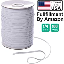 1//4 inch 15 Yards 15 Yard 1//4 Inch Wide Elastic String Cord Bands Rope for Sewing Crafts DIY Mask