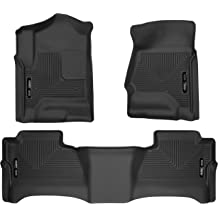 Husky Liners Fits 2017-19 Ford F-250//F-350 Crew Cab with factory storage box Weatherbeater 2nd Seat Floor Mat