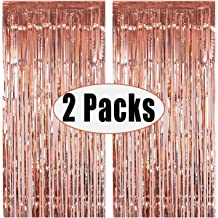 Baby Shower,Bridal Shower 3.2ft x 9.8ft Laser Foil Fringe Curtain Tinsel Curtains Shiny Glitter Party Backdrop Photo Booth Props for Birthday Pary,Engatement,Wedding Theme Party-Light Pi Graduation